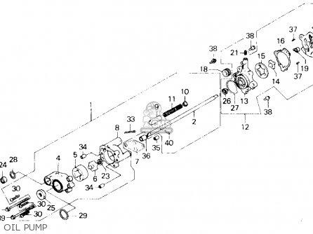 Honda Gl1200a Goldwing Aspencade 1986 g Usa Oil Pump