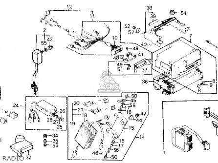 Honda Gl1200a Goldwing Aspencade 1986 g Usa Radio