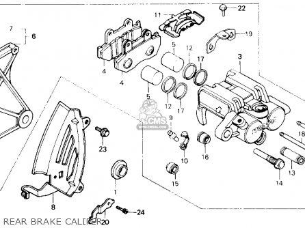 Honda Gl1200a Goldwing Aspencade 1986 g Usa Rear Brake Caliper