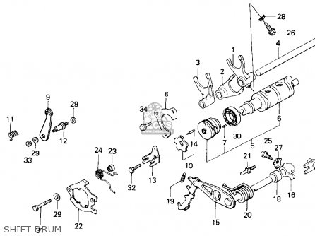 Honda Gl1200a Goldwing Aspencade 1986 g Usa Shift Drum