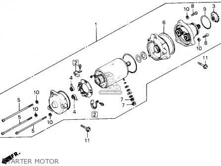 Honda Gl1200a Goldwing Aspencade 1986 g Usa Starter Motor