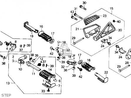 Honda Gl1200a Goldwing Aspencade 1986 g Usa Step
