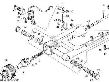 Honda Gl1200a Goldwing Aspencade 1986 g Usa Swingarm