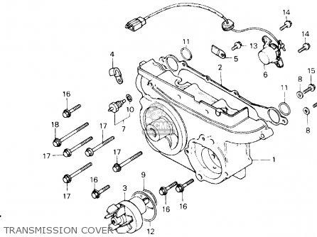Honda Gl1200a Goldwing Aspencade 1986 g Usa Transmission Cover