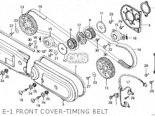 E-1 FRONT COVER-TIMING BELT - GL1200D GOLDWING 1987 (H)