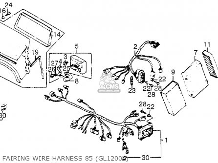 wiring diagram for 1987 honda goldwing 1200 a  honda