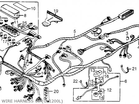 1985 honda goldwing 1200 parts  honda  wiring diagram images