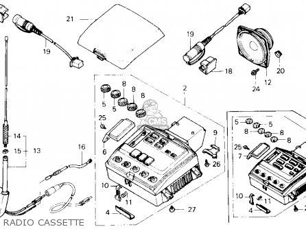 honda gl1500 gold wing 1988 usa parts list partsmanual ... 2012 honda goldwing wiring diagram