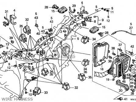 honda gl1500 goldwing 1990  l  germany parts list