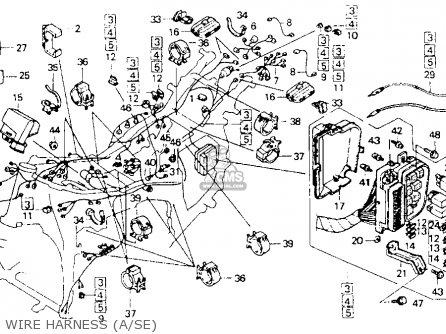 Honda Gl1500a Goldwing Aspencade 1993 P Usa California Parts Lists