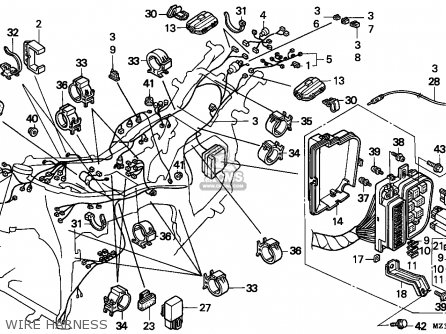 Honda Gl A Goldwing Aspencade Finlandkph Wire Harness Mediumecz P F Fb D on Honda Goldwing 1500 Wiring Diagrams