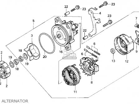 1988 Honda Goldwing Alternator Wiring Diagram