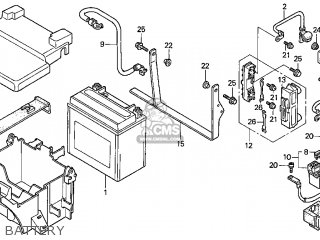 Honda Gl1500c Valkyrie 2000 y Usa California Battery