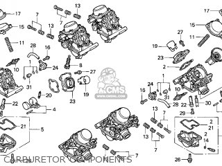 Honda Gl1500c Valkyrie 2000 y Usa California Carburetor Components