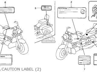 Honda Gl1500c Valkyrie 2000 y Usa California Caution Label 2