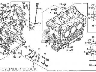 Honda Gl1500c Valkyrie 2000 y Usa California Cylinder Block