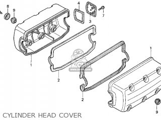 Honda Gl1500c Valkyrie 2000 y Usa California Cylinder Head Cover
