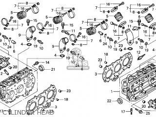 Honda Gl1500c Valkyrie 2000 y Usa California Cylinder Head