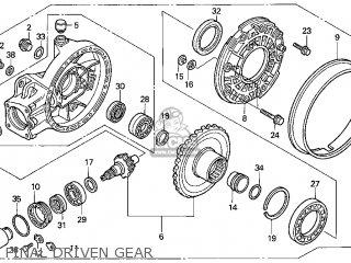 Honda Gl1500c Valkyrie 2000 y Usa California Final Driven Gear