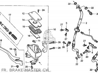 Honda Gl1500c Valkyrie 2000 y Usa California Fr  Brake Master Cyl