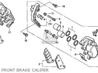 Honda Gl1500c Valkyrie 2000 y Usa California Front Brake Caliper