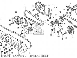 Honda Gl1500c Valkyrie 2000 y Usa California Front Cover   Timing Belt