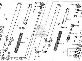 Honda Gl1500c Valkyrie 2000 y Usa California Front Fork