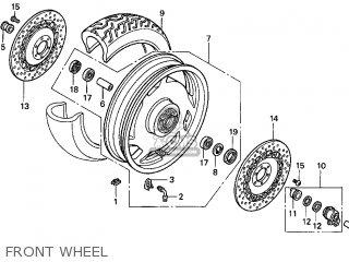 Honda Gl1500c Valkyrie 2000 y Usa California Front Wheel
