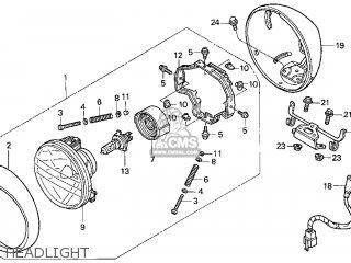 Honda Gl1500c Valkyrie 2000 y Usa California Headlight