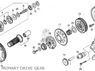 Honda Gl1500c Valkyrie 2000 y Usa California Primary Drive Gear