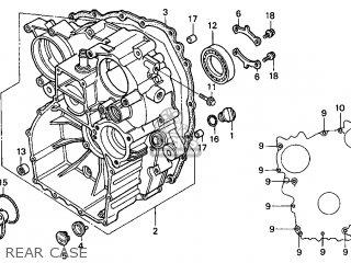 Honda Gl1500c Valkyrie 2000 y Usa California Rear Case