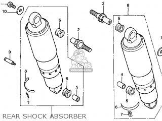 Honda Gl1500c Valkyrie 2000 y Usa California Rear Shock Absorber
