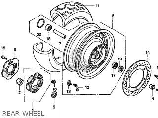 Honda Gl1500c Valkyrie 2000 y Usa California Rear Wheel