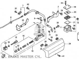 Honda Gl1500c Valkyrie 2000 y Usa California Rr  Brake Master Cyl