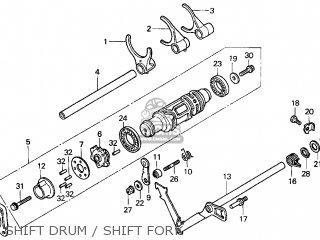 Honda Gl1500c Valkyrie 2000 y Usa California Shift Drum   Shift Fork