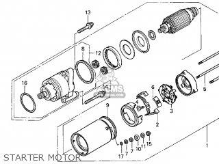 Honda Gl1500c Valkyrie 2000 y Usa California Starter Motor