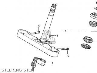 Honda Gl1500c Valkyrie 2000 y Usa California Steering Stem