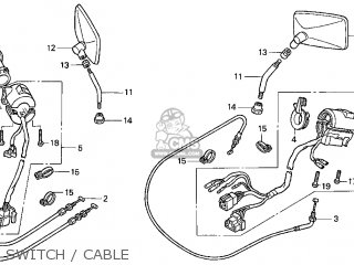Honda Gl1500c Valkyrie 2000 y Usa California Switch   Cable