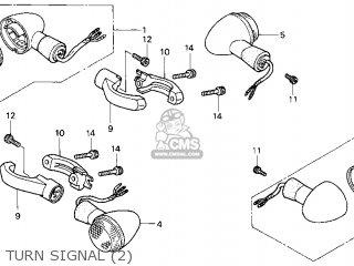 Honda Gl1500c Valkyrie 2000 y Usa California Turn Signal 2