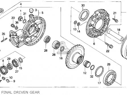 Honda Goldwing 1500 Engine