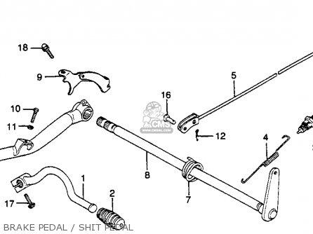 Honda Gl500 Silver Wing 1982 c Usa Brake Pedal   Shit Pedal