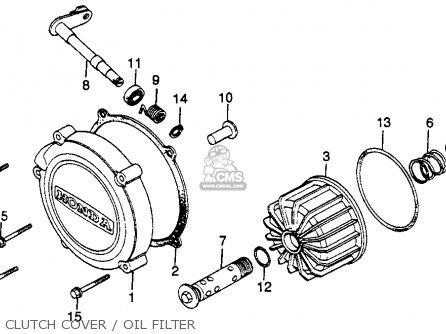 Honda Gl500 Silver Wing 1982 c Usa Clutch Cover   Oil Filter