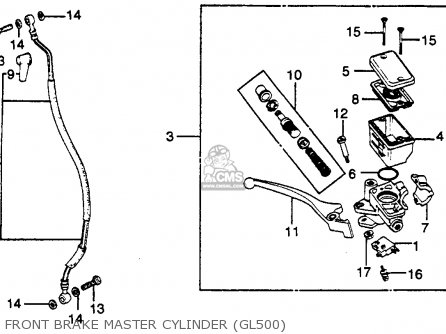 Honda Gl500 Silver Wing 1982 c Usa Front Brake Master Cylinder gl500