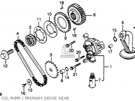 Honda Gl500 Silver Wing 1982 c Usa Oil Pump   Primary Drive Gear