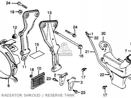 Honda Gl500 Silver Wing 1982 c Usa Radiator Shroud   Reserve Tank