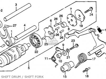 Honda Gl500 Silver Wing 1982 c Usa Shift Drum   Shift Fork