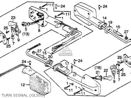 Honda Gl500 Silver Wing 1982 c Usa Turn Signal gl500