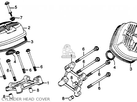 Honda Gl500 Silverwing 1982 c Usa Cylinder Head Cover
