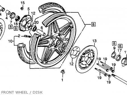 Honda Gl500 Silverwing 1982 c Usa Front Wheel   Disk