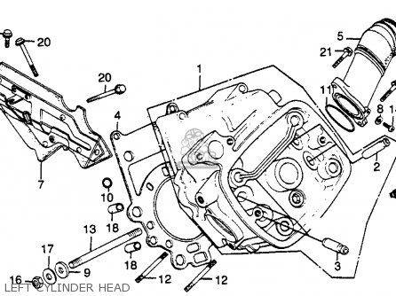 Honda Gl500 Silverwing 1982 c Usa Left Cylinder Head